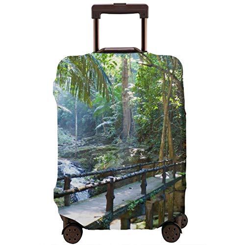 Cubierta de equipaje de viaje camino tranquilo paisaje bosque maleta protector lavable equipaje cubiertas