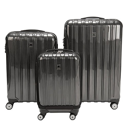 Best Deals! DELSEY Paris Helium Aero Hardside Expandable Luggage with Spinner Wheels, Brushed Charco...