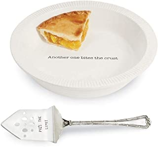 Mud Pie Thanksgiving Circa Pie Plate with Server Set of 2