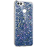 Surakey Coque Huawei Nova 2 Plus Paillettes Coque en Silicone TPU Souple Etui de Protection Strass...