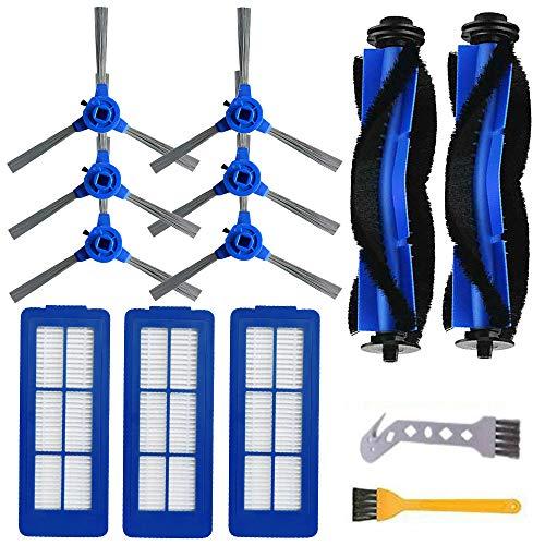Kit de filtre pour brosse latérale principale Hiraliy pour aspirateur Eufy RoboVac 11s Max, 15C Max, 30C, G10, G30