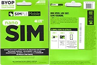 Simple Mobile Sim Card with First Month Included : $ 40 Plan