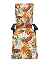 TIENDA EURASIA® Cojín para Tumbona de Jardín - Estampados Tropicales - Cojín Acolchado Relleno de Fibra - Medidas 120-180 x 50 x 10 cm - Ideal para tumbonas, sillas y hamacas. (Tropical 5, 180 cm)