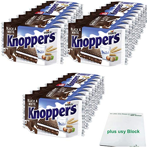 Knoppers Black and White Officepack 3er Pack (3x8x25g Packung) inklusive usy Block