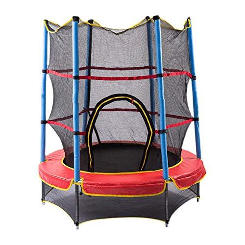 Home store Trampolín para niños, con Red de cerramiento de Seguridad, Trampolín, 1,4 m de diámetro, Capacidad máxima de Peso de 100 kg, Estable y Duradero