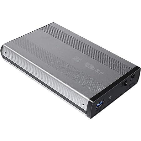 Black Mini HDD Case USB3.0 to SATA 5Gbs Aluminium Compatible with Windows XP Vista 7 Mac8.6