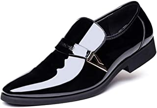 Dingziyue Scarpe da uomo, Scarpe in pelle, Scarpe Casual Uomo, Wild Shoes (Colore: Nero, Taglia : 46)
