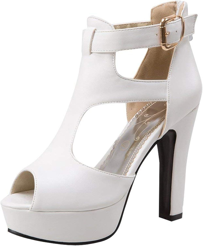 Wallhewb Women's Peep Toe Platform High Heels Boot Sandals Elegant Girls Skinny Sweet Joker Dress Rubber Sole No Griding Feet Yellow 8 M US Boot Sandals