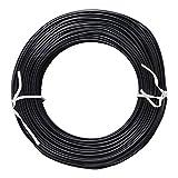 YINSONG Twist Ties Atadura de Cables para el Jardín Jardinería Oficina (100 Metro), Negro, 0.7A