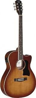James Neligan 6 String BES-ACE DCB Bessie Series Auditorium Cutaway Acoustic-Electric Guitar-Dark Cherryburst