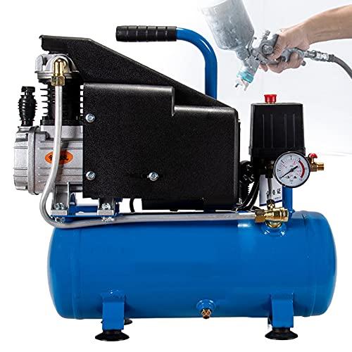 FRIBLSKEL Mini Contiene Aceite Compresor Aire,Eléctrico Neumático Compresor,1100W 8L,Ruido Bajo,Bomba Aire para Pistola Clavos Carpintería,Pintura Automóviles, Reparación Limpieza