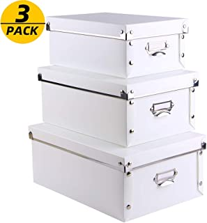 SEEKIND Office Storage Boxes with Lid, Water-Proof Storage Binsfor Toys,Shoes,Clothes,Office.