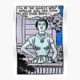 Womens Girls Gay LGBT Comic Bi Retro Lesbian I Most Design - Art Poster Decorative Trends Painting Wall Art for Room