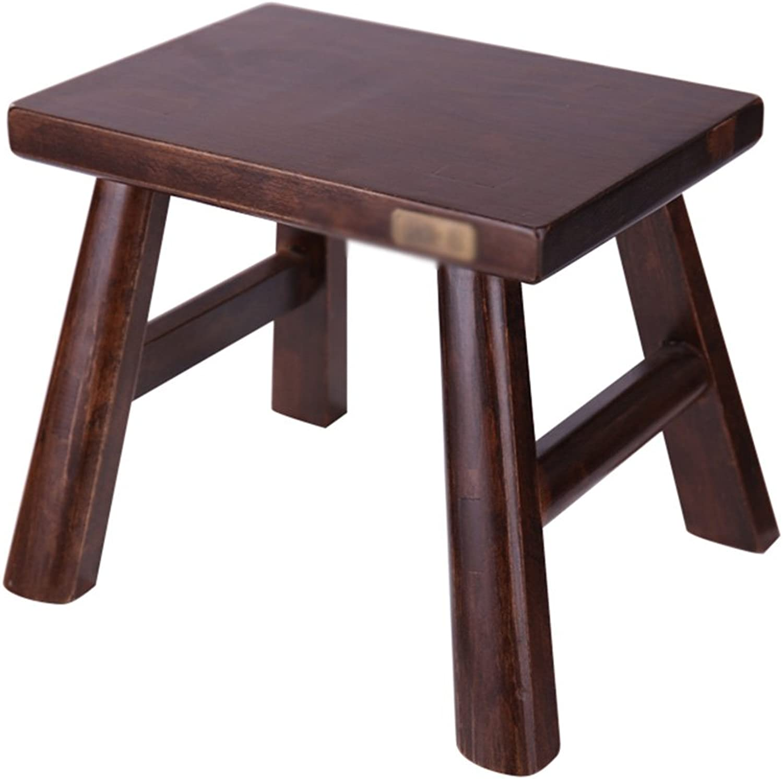 Stool Solid Wood color Optional Strong Bearing Oak Beech Sofa Stool (color   Beech-B)