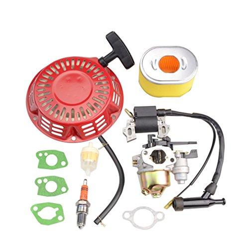 WOOSTAR Vergaser mit Zündspule mit Seilzugstarter Kit Ersatz für Honda GX140 GX160 GX168 GX200 5.5HP 6.5HP Motor Teil