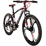 Max4out Mountain Bike 21 Speed 26 inch Shining SYS Double Disc Brake Suspension Fork Rear Suspension Anti-Slip Bikes Red