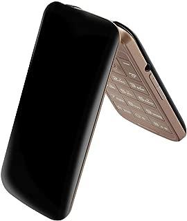 Flip Phone 4G LTE GSM QuickFlip (Cricket 4044C) Unlocked Big Buttons + Extrenal LCD Bluetooth WiFi Mp3 Camera SOS Elderly