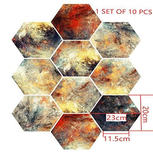 Zelfklevende tegels voor - [Vloertegels] - Folie Sticker Decals voor Vloertegels - Badkamer of Keuken I Tegel Stickers als alternatief voor Tegel Verf I 7.8x9in - Ontwerp Abstract Tegel Stickers