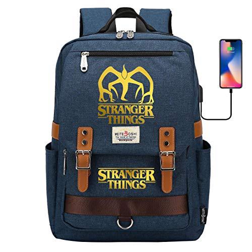 Men's Backpack Hiking Backpack General Backpack Multifunctional Outdoor Camping Backpack USB Port Large Darkblue