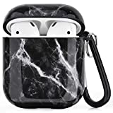 V-MORO Airpods Case Kompatibel mit Apple AirPods 1&2 Hülle Case Marmor Stoßfeste Schutzhülle...