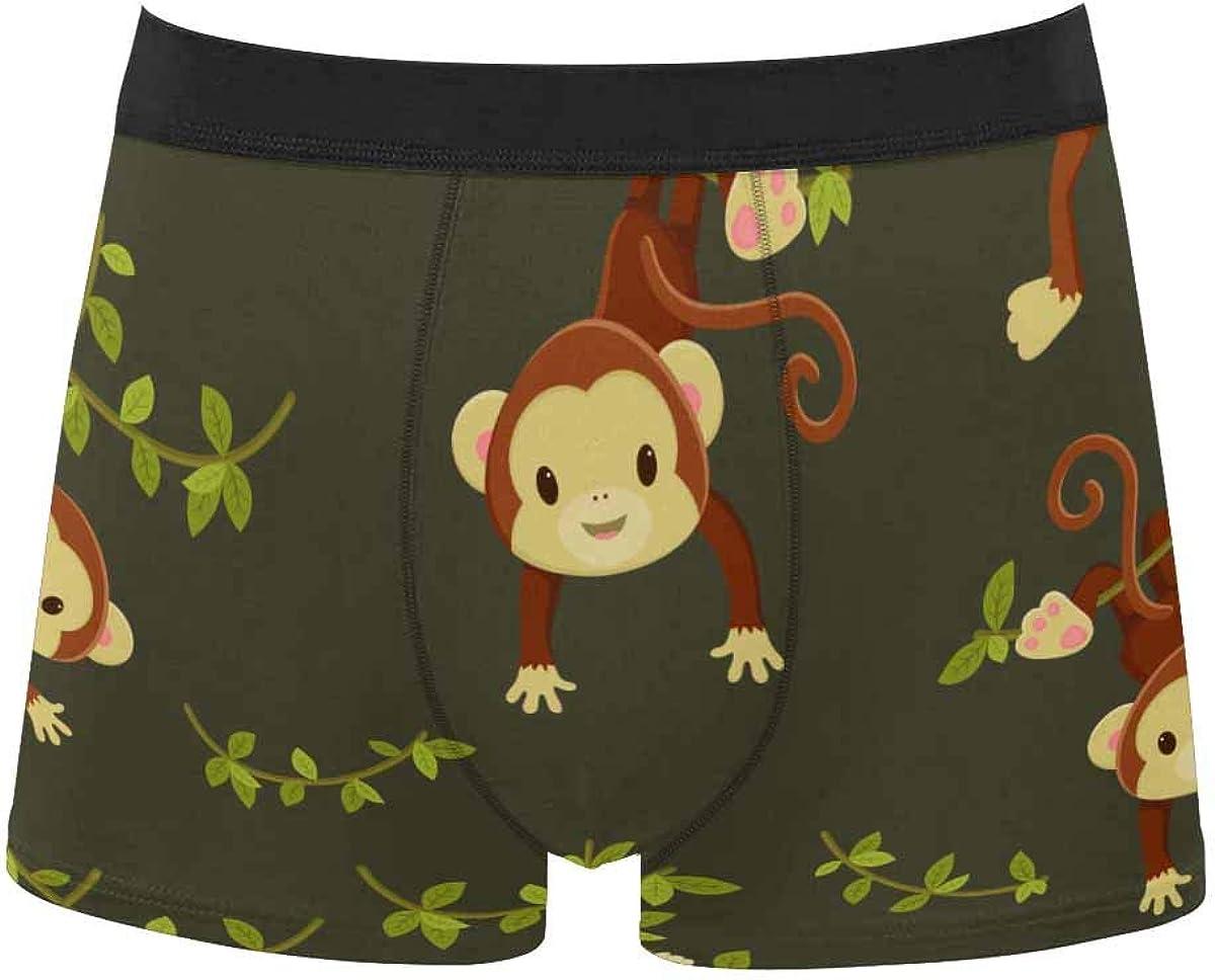 InterestPrint Men's Underwear Boxer Briefs Underwear for Juniors Yoth Boys Modern Design with Shadow Pandas