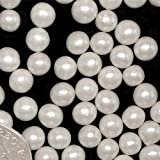 Natural color blanco Dragees comestible perlas 6mm Pastel Cupcake Decoración