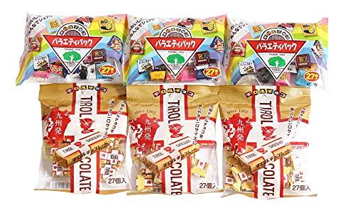 チロルチョコ(バラエティパック)3袋&チロルチョコ(ミルクヌガーパック)3袋セット