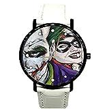 EREMITI JEWELS Orologio da Polso Joker E Harley Quinn Modello in Varie COLORAZIONI Idea Regalo Uomo Donna Unisex Quartz (White)