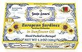SANTO AMARO European Wild Sardines in Pure Sunflower Oil (12 Pack, 120g Each) LITE AND NUTRITIOUS!...
