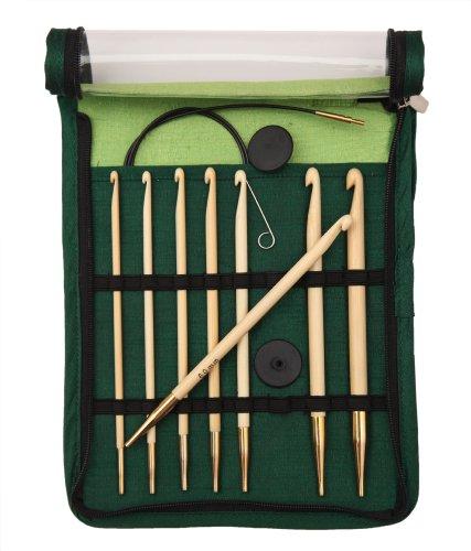 KnitPro 22550 Häkelnadel Set Bamboo tunesisch, austauschbar