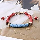 ZMMZYY Bracciale in Pietra,Fashion Argilla Rossa Perle Bracelete Shell Manuale di nazionalità Bohemia Bangle Accessori di Gioielli