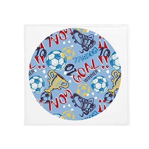 DIYthinker Ziel Soccer Fußball Sport Winner Anti-Rutsch Boden Pet Matte quadratisch Home Kitchen Tür 80cm Geschenk