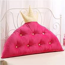 Barture Bed Bedside Upholstered Wedges Headboard Backrest Pads Cover Waist Belt Waist Cushion Large Crown Shape (Color : #4, Size : 120X90CM)