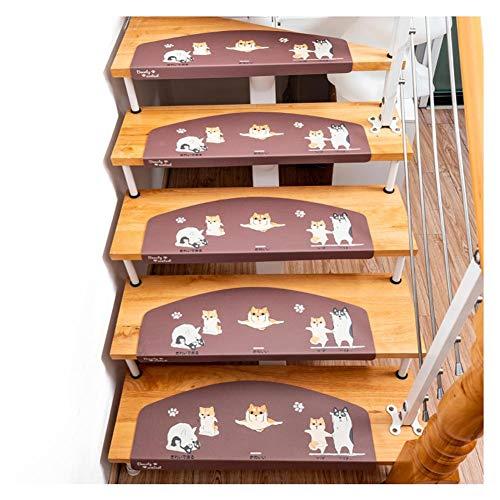 ZYFDT Tappeti Runner Tappeto for Scale Scala Stuoie Stile Europeo Famiglia Materiale PVC Tappetino Antiscivolo Autoadesiva Libera di Plastica- Tappeto per Scale in Legno Massello Personalizzabile