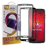 Guran [2 Pezzi Pellicola Vetro Temperato per Motorola Moto Z3 Play/Moto Z3 Smartphone Copertura Completa 9H Durezza Anti-Impronte HD Pellicola Protettiva - Nero
