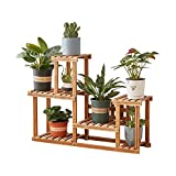 Plant Stand,Homchwell Pine Wood Plant Stand Indoor Outdoor Multi Layer...