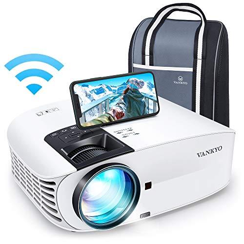 VANKYO Leisure 510PW Proiettore WiFi 5Ghz Videoproiettore 1080P Nativo 64° Correzione 7200 Lux, con 2 Altoparlanti Borsa Portatile, per iOS/Android TV Stick PS4