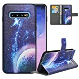 LFDZ Compatible with Samsung Galaxy S10 Case,PU Leather Galaxy S10 Wallet Case with [RFID Blocking],2 in 1 Magnetic Detachable Flip Slim Cover Case for Samsung Galaxy S10,Planet