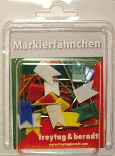 Pin Fähnchen bunt - sortiert: 30 Stk. Packung, 32 mm Stecklänge (freytag & berndt Poster + Markiertafeln)