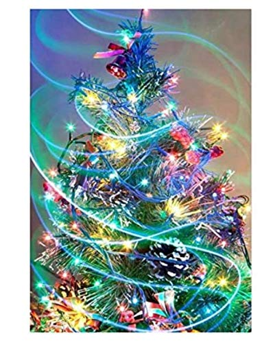 Yqgdss Beautiful Christmas Tree Decorated With Colorful Lights Jigsaw Puzzles 1500 Pieces Game Gift Puzzles Educational Games Game Birthday Gift