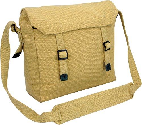 Pro Force Highlander Army Travel Shoulder Military Combat Day Bag Messenger Satchel Canvas Surplus Haversack Beige
