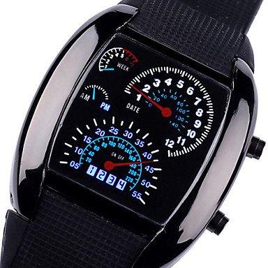 Fenkoo Herren Armbanduhr Quartz LED / Sportuhr Silikon Band Schwarz / Braun Marke-