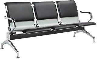 Cadeira Longarina Aeroporto 3 Lugares Assentos Estofados K-C904