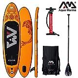 AQUA MARINA FUSION SUP inflatable Stand Up Paddle Surfboard Board Paddel -