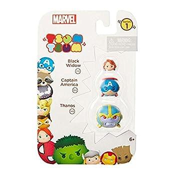 TSUM TSUM Marvel 3-Pack  Thanos/Captain America/Black Widow Toy Figure