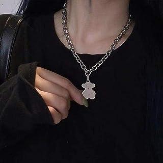YERTTER Dainty Unique Punk Layering Chain Choker Necklace Boho Jewellery Set Layered Pendant Statement Chunky Chain Neckla...