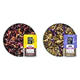 Tiesta Tea - Fireberry, Loose Leaf Cranberry Hibiscus Rooibos Tea, Decaf, 1.7 oz Pouch - 25 Cups & Lavender Chamomile, Loose Leaf Soft Chamomile Herbal Tea, 0.9oz Resealable Pouch - 20-25 Cups