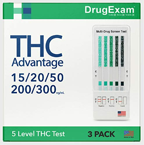 3 Pack - DrugExam THC Advantage Made in USA Multi Level...