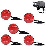 MadridGadgetStore® 5X Amarres Fijación Correa Cuerda de Seguridad Anclaje Adhesivo 3M para Cámara Deportiva Acción Hero8 Hero7 Hero6 Hero 8 7 6 5 4 (Black, Silver, White)