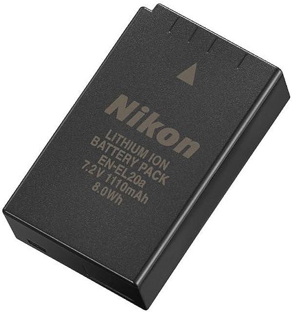Nikon EN-EL20a - Batería/Pila Recargable (1110 mAh Cámara Digital Iones de Litio) Negro